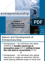 THE NATURE AND IMPORTANCE OF ENTREPRENEURS