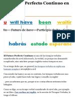 El Futuro Perfecto Continuo en inglés - Aprende Inglés Sila
