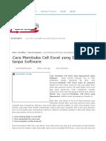 Cara Membuka Cell Excel Yang Dipassword Tanpa Software _ Cara I