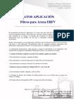 Datos de Aplicacion Filtros de Arena Erfv