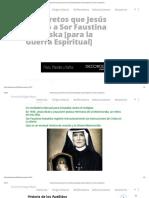 25 Secretos Que Jesús Reveló a Sor Faustina Kowalska [Para La Guerra Espiritual] » Foros de La Virgen María