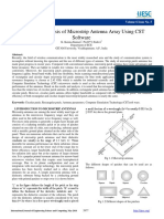 Design and Analysis of Microstrip Antenna Array Using CST Software