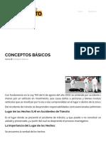 Conceptos Básicos – Hechos de Tránsito