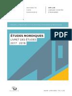 Livret Des Etudes Nordiques 2017 2018 06112017 Hs