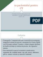 Pregatirea Pacientului Pentru CT