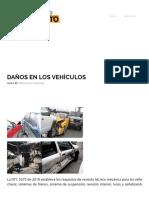 Daños en Los Vehículos – Hechos de Tránsito