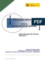 Programa Operativo Para El Sector Pesquero Español (Versión Junio 2012 v2 Octubre 2012 Aprobado Por La CE 12-12-2012) Tcm7-260568