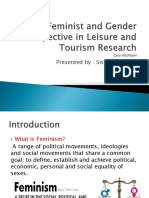 Feminist and Gender Perspective in Leisure and Tourism