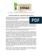 La Gestión Colaborativa y Ciudadana Del Espacio Público