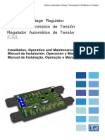 WEG Regulador Automatico de Tension k38l Manual Espanol