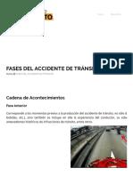 Fases Del Accidente de Tránsito – Hechos de Tránsito