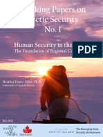 Working Papers on Arctic Security  - Human Security in the Arctic