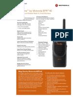 Motorola Bpr40 Specsheet