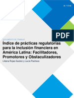 Practicas Regulatorias Para La Inclusion Financiera en America Latina 2017