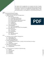 Pharchem 4 Course Outline