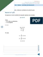 Cópia de Resumo 19 Algebra Equacao Do 1 Grau Sistema de Equacao