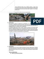 etapas proyectos mineros