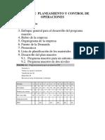 Trabajo de Planificacion y Control de Operaciones Esquema II