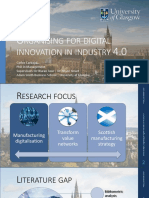 Carlos Carbajal - Organizing for Ditial Innovation Research Proposal