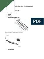 Instrumentar Utilizat in Stomatologie