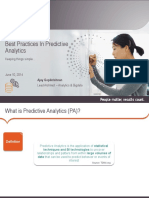 Best Practices in Predictive Analytics