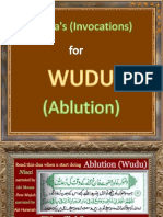 Duaa's for WUDU (Ablution)