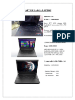 Daftar Harga Laptop