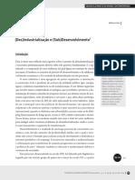 Desindustrialização e Subdesenvolvimento - Wilson Cano
