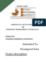 Synopsis LPU UMS
