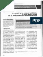 El Principio de Verdad Material y el Iura Novit Curia en El Procedimiento Administrativo