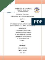 Informe de Auditoria Externa Lubricantes Internacionales s.a.a Lubrisa