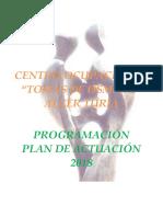 PROGRAMACIÓN - PLAN DE ACTUACIÓN To 2018