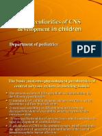 The Peculiarities of CNS Development in Children (1)