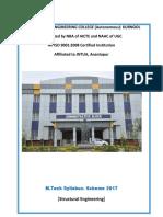 M.tech Scheme -2017(Structural Engineering) Syllabus