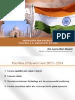 Presentación Ministra Laura Alfaro en Foro Innovación Asia Pacífico sobre India