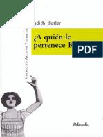 Judith Butler - A quién le pertenece Kafka y otros ensayos