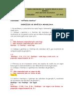 2014-Corrigido Exercícios de Genética Mendeliana e Resolução