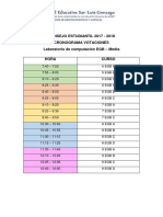 Cronograma de Votaciones EGB 2017