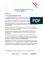 EDF Resolution on the European Pillar of Social Rights
