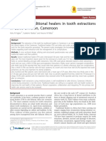The Role of Traditional Healers in Tooth Extractions in Lekie Division, Cameroon