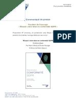 Guide pratique GDPR - Communiqué de presse