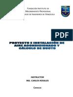 Material Proyecto e Instalación de Aire Acondicionado
