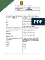 Evaluacion Diagnóstica Para 4 Básicos