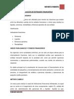 Evaluacion de Entidades Financieras