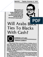 VERNON JARRETT 1979 Article St. Petersburg Independent DETAIL VIEW
