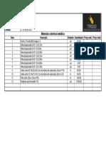 Lista Materiais Cobertura