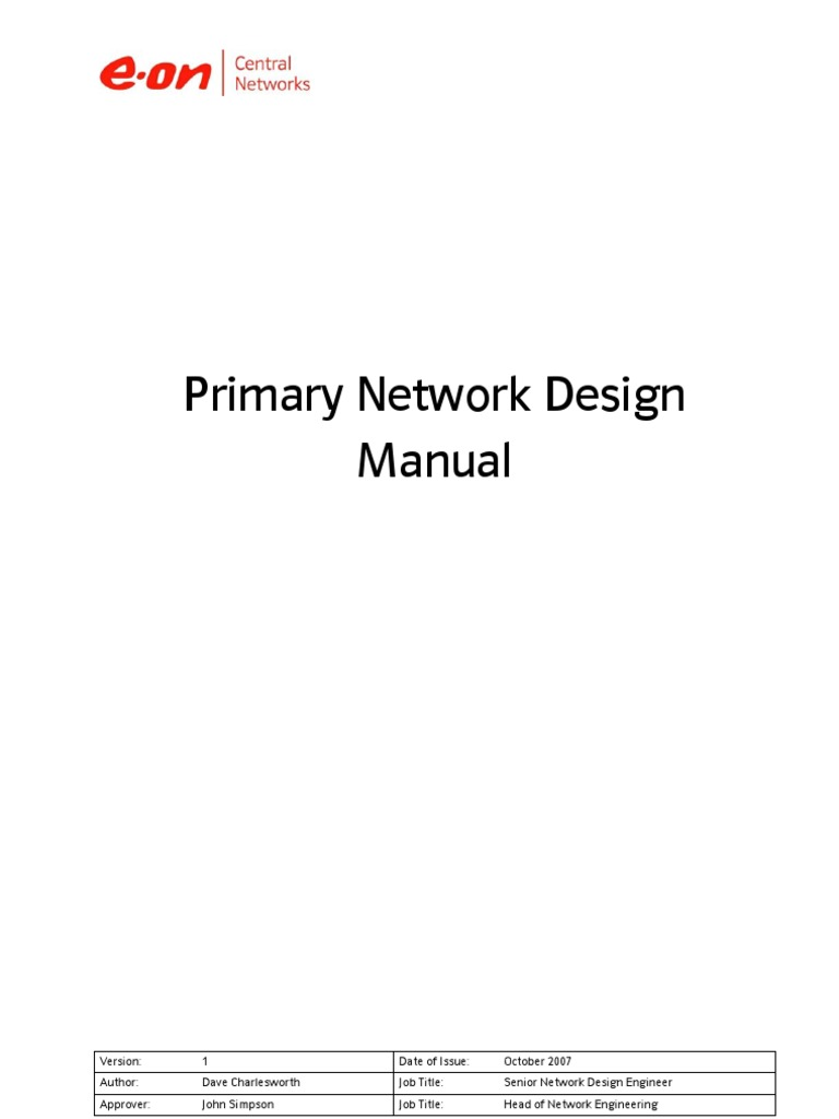 Primary Network Design Manual