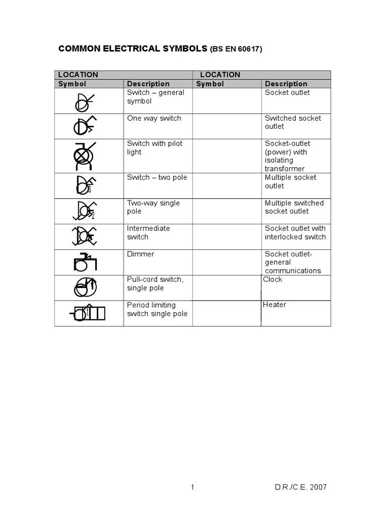 Electrical symbols bs en 60617 biocorpaavc Images