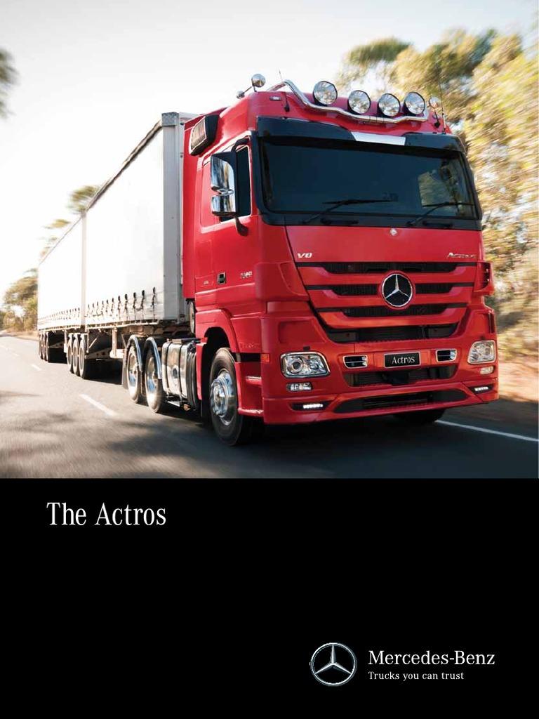 Mercedes-Benz Actros Brochure pdf | Manual Transmission