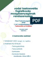 Az Óvodai Tn. Eszközei És Mozgásrendszere